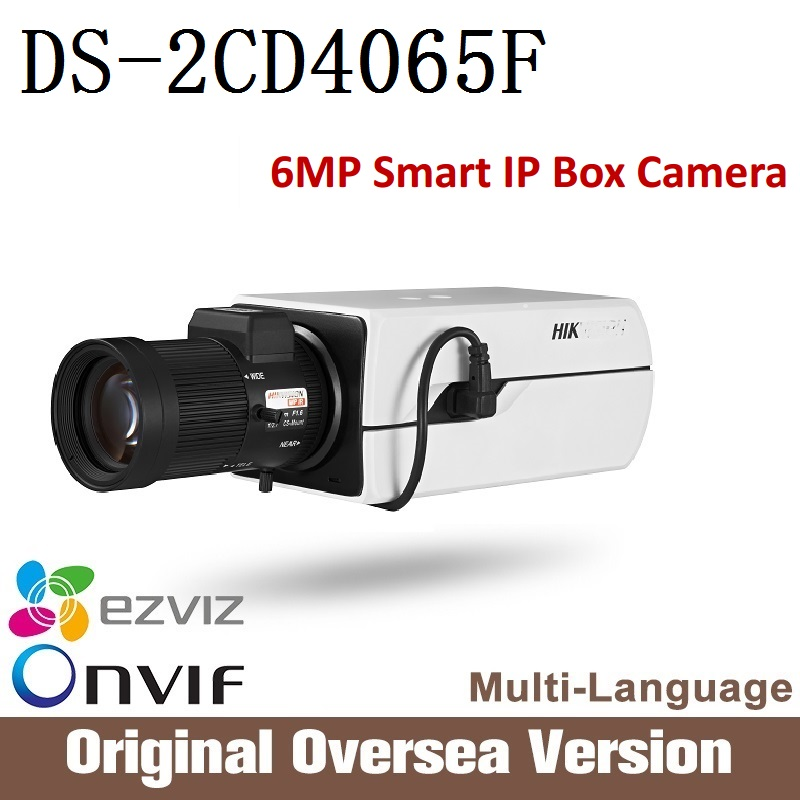 HIKVISION  ip camera 6mp DS-2CD4065F PoE Smart IP Box Camera Full HD resolution ONVIF Smart CCTV security IP Camera cd диск various poulenc f eric le sage plays francis poulenc 6 cd