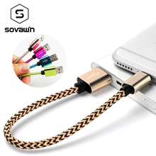 Very Fast Charging 21cm Wire Nylon Short Micro USB Cable Data Mobile Phone Charger Microusb Cord Charge for Samsung Android
