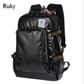 Leisure High Capacity Quality Men Backpacks Fashion High Grade Leather Designer Business Backpack Men's Schoolbag Travel Laptop