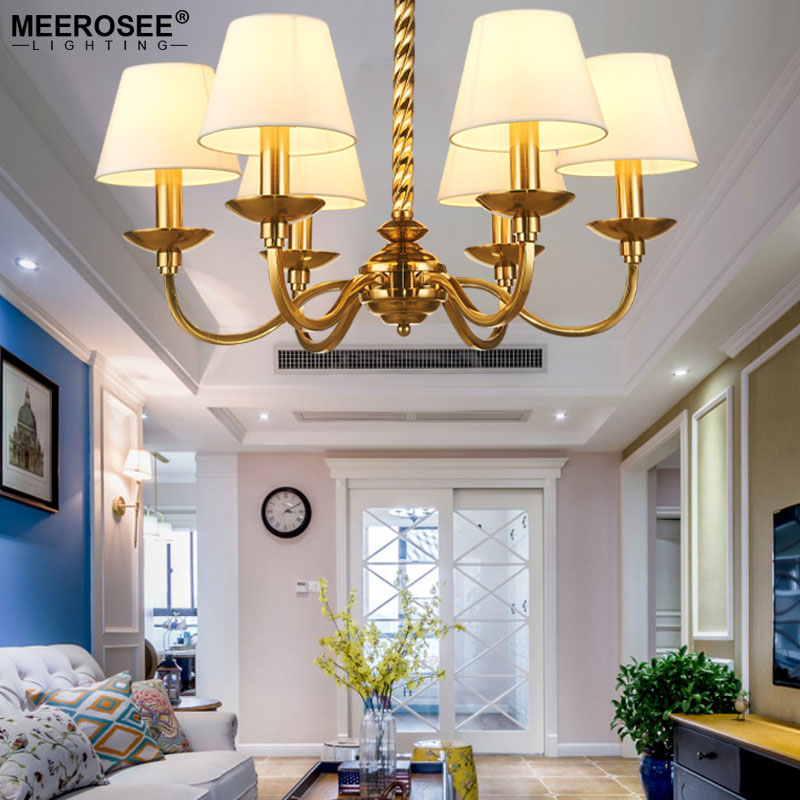 Modern Chandelier Light Fixture American Style Lamp for Dining Living room Hanging Lamparas Indoor Lighting led lamp creative lights fabric lampshade painting chandelier iron vintage chandeliers american style indoor lighting fixture
