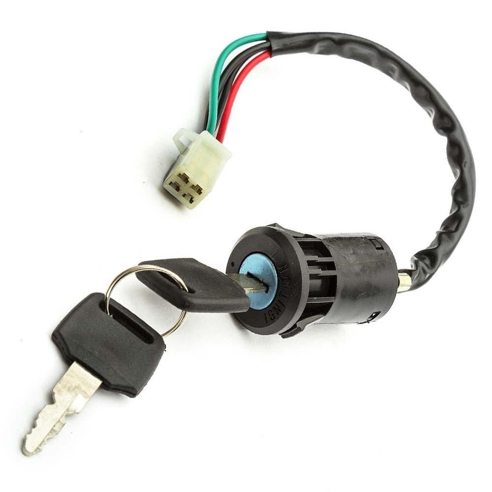 Universal 2 Wires Ignition Key Switch Lock Scooter Kart Moto Pocket Dirt Bike