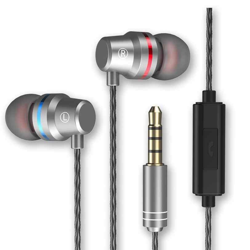 Оригинальный 3,5 мм в ухе Металл гарнитура HC059 шок 3D объемный звук Clear Bass наушники audifonos С микрофоном для телефонов mp3