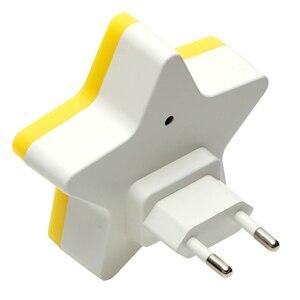 Image 3 - ITimo Childrens Room Decoration Light Control EU/US Plug Star Night Light Socket Lamp Plug in Wall Lamp Home Lighting