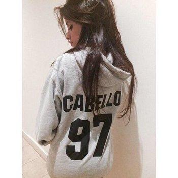 Sugarbaby Cabello 97 Hoodie Cabello Tour  Hoodie Camila Cabello Hoodie Grey Fashion Spring Jumper Tumblr Fashion Tops Drop ship heather grey drop shoulder crossover hoodie