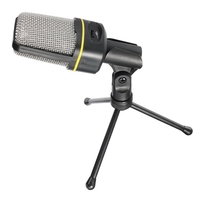New 3 5mm Multimedia Stereo Bass Sing Music Studio Condenser Wired Microphone Tripod Stand For PC