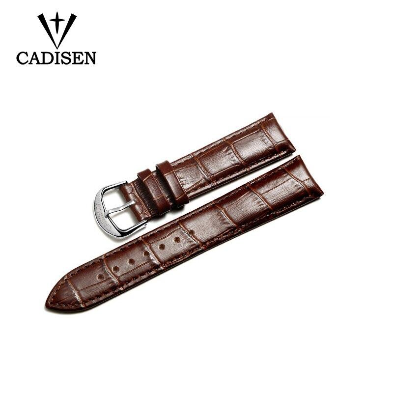 Cadisen Uhrenarmband Schwarz Braun Leder Weicharmband Armband - Uhrenzubehör - Foto 2