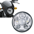 "5.75 Inch Headlight Bulb 5 3/4"" High & Low Beam LED Headlamp Kit Driving Lights for Harley Davidson Projector Auxiliary Lamps"