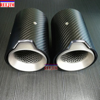 1 Piece Carbon Fiber Exhaut tip for BMW M2 M3 M4 M135i M235i M140i M240i Mufflers Matte/Glossy Carbon Style Parts