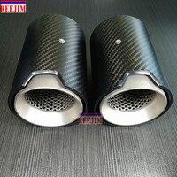 1 Piece Carbon Fiber Exhaut tip for BMW M2 M3 M4 M135i M235i M140i M240i Mufflers Matte/Glossy Carbon Style Parts