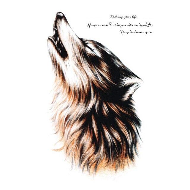 Hot Waterproof Temporary Tattoo Flash Tattoo Sticker For Body Wild Wolf Design Body Art