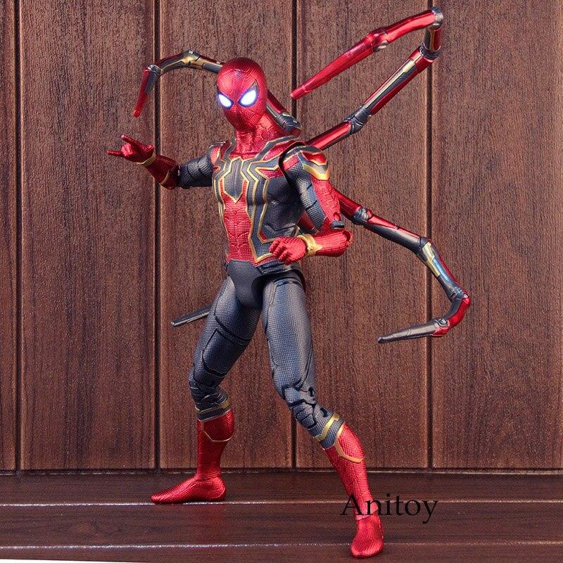 Marvel Avengers 3 nieskończoność wojny Spiderman Iron Spider Man figurka pcv kolekcjonerska Model zabawki duży rozmiar z oświetlony oczy w Figurki i postaci od Zabawki i hobby na  Grupa 1