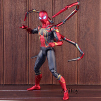 Marvel Avengers 3 Infinity War Spiderman Iron Spider Man Figure Action PVC Collectible Model Toy Big Size with Lighted Eyes