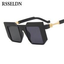 RSSELDN Moda Preto Quadrado Do Vintage Óculos De Sol Dos Homens de Luxo Da  Marca Legal Óculos de Sol Para As Mulheres 2019 Oculo. 053d52e053