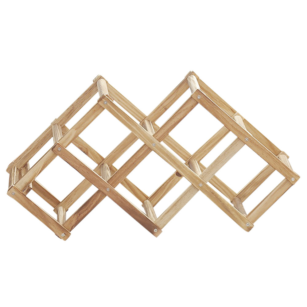 Wooden Bottle Rack Us 7 42 35 Off Wooden Wine Rack 3 6 10 Bottle Rack Installation Strip Display Stand Folding Wooden Wine Rack Alcohol Beverage Bottle Rack Yf In