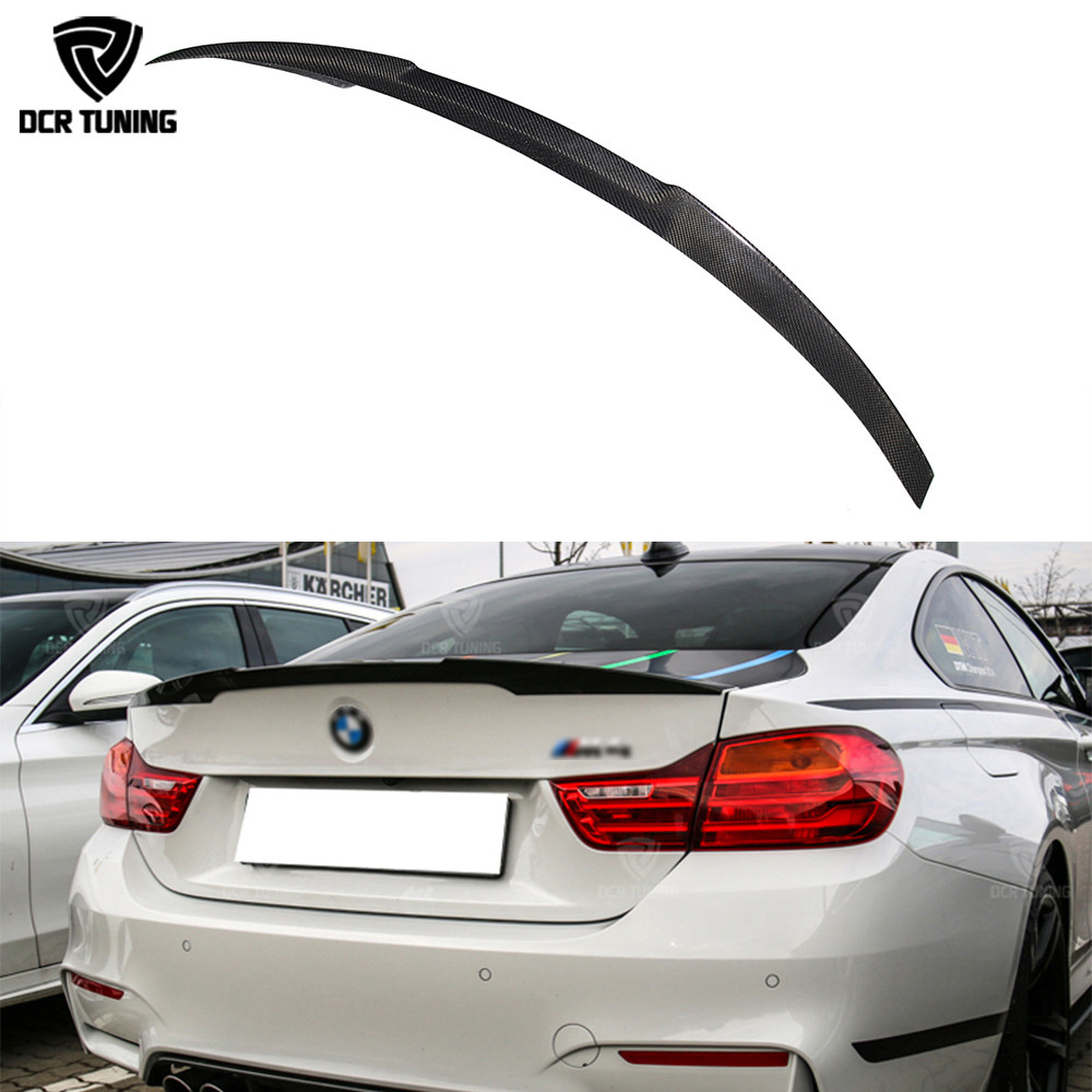 For BMW M4 Coupe F82 M4 Spoiler Carbon Fiber new Style Carbon Rear Trunk Spoiler Wing 2014 - UP e60 carbon fiber rear trunk boot wing lip spoiler for bmw 5series m5 style 05 11