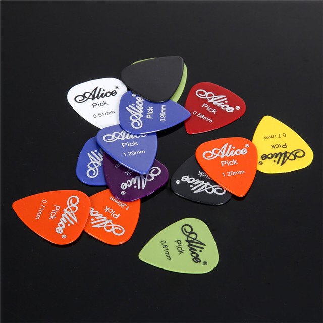 50Pcs/Set Electric Guitar Pick Acoustic Music Picks Plectrum 0.58/0.71/0.81/0.96/1.20/1.50mm Thickness Guitar Accessories GYH