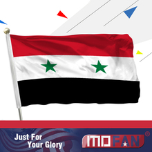MOFAN Syria Flag Polyester-High Quality and Double Stitched-Syria Flag Holiday procession Home Decoration 3x5ft