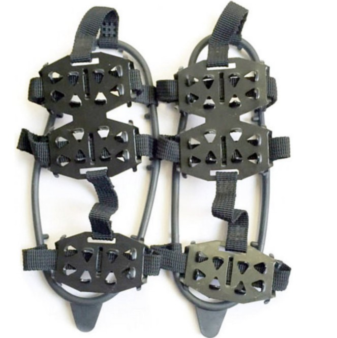 24 Teeth Ice Gripper For Shoes Women Men Non-slip Crampons Ice Gripper Spike Grips Cleats For Ice Snow Climbing Dropshipping