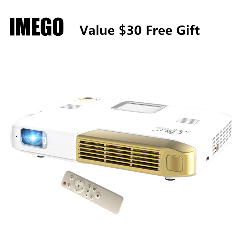 LED Portable font b Projector b font 2000LM Mini HDMI Business Home Media Player 4K HD