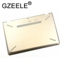 GZEELE New for HP PAVILION x360 15 BR laptop 15.6 Bottom Base 924506 001 GOLD Laptop Bottom Base Chassis Plastic Cover CASE