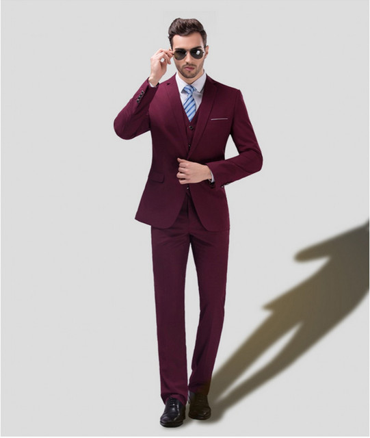 New Groom Wine Red Pink White Tuxedos Latest Coat Pant Designs Mens Prom Suits Wedding Men