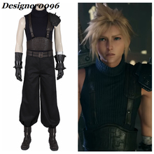 Game cosplay Final Fantasy VII Remake Anime Cosplay Costume Cloud Strife Combat Clothes Halloween Adult  High Quality