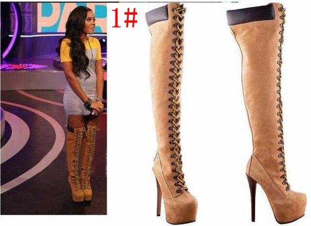 Online Shop 2017 New Fashion Women Boots Habenular Thigh High ...