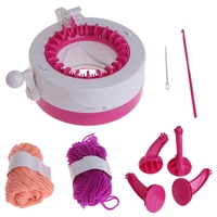 Manual Hats Scarves Knitting Machine DIY Toy Gift With 2 Wool For Children Kids B116
