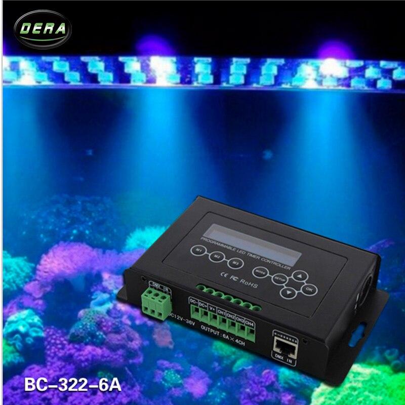 Bincolor Timer dimmer controller DC12V-36V aquarium controller plant light controller BC-322-6A bc 322 dmx timer dimmer dmx controller dc9v aquarium controller