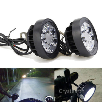 Universal DC12V 6-LED Motorcycle Headlight Mirror Mount Driving Fog Spot Head Light Spotlight For ATVs Pit Dirt Bikes Scooters image