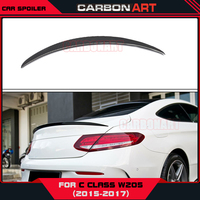 W205 Carbon Fiber Rear Spoiler Trunk Wing Bootlid Lip For Mercedes New C class Coupe Amg Design 2015 2016 2017 C180 C200 C250