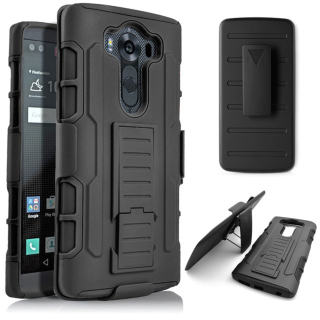 US $4 09 5% OFF|For LG V10 Case Hybrid Heavy Duty Hard Armor Defender  Holster Silicone Case with Belt Clip for LG V10 H960A Case Cover Fundas-in