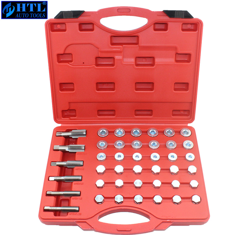 114pcs Oil Bottom Discharge Screw Thread Repair Tool Auto Repair Tool M13-22 Car Sleeve Tapping