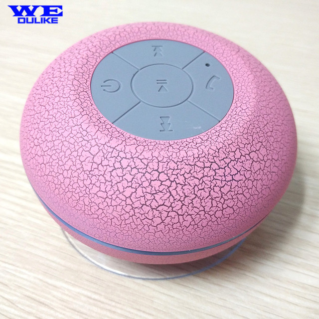 Wireless Bluetooth Waterproof Shower Speaker With Suction Cup Led Light Supported Tf Card For Huawei Xiaomi