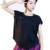 Camisas de Entrenamiento de Fitness femenino de Manga Corta Camiseta de Las Señoras Loose de Las Mujeres Respirables de Secado rápido medias Camisetas