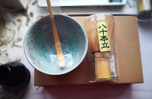 Free shipping Hot Sale 3pcs sets Bamboo Matcha Tea Ceremony Gift Set with Ceramic Tea Bowl Scoop Powder Whisk Chasen teaware