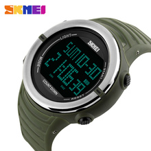 SKMEI Men Sports Watches Countdown Double Time Fashion Watch Waterproof Chronograph Digital Wristwatches Relogio Masculino XFCS compass sports watches men world time summer time watch countdown chrono waterproof digital wristwatches relogio masculino
