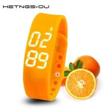 Hetngsyou SmartBand умный Браслет USB 3D Шагомер сна Температура калорий Мониторы время Дисплей Фитнес спортивные наручные