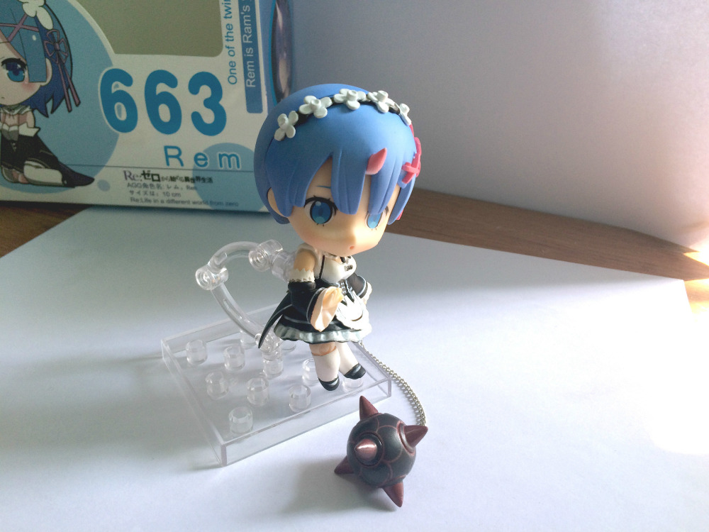 10CM pvc anime figure Rem Re:Life in a different world from zero Nendoroid 663# action figure collectible model toys brinquedos