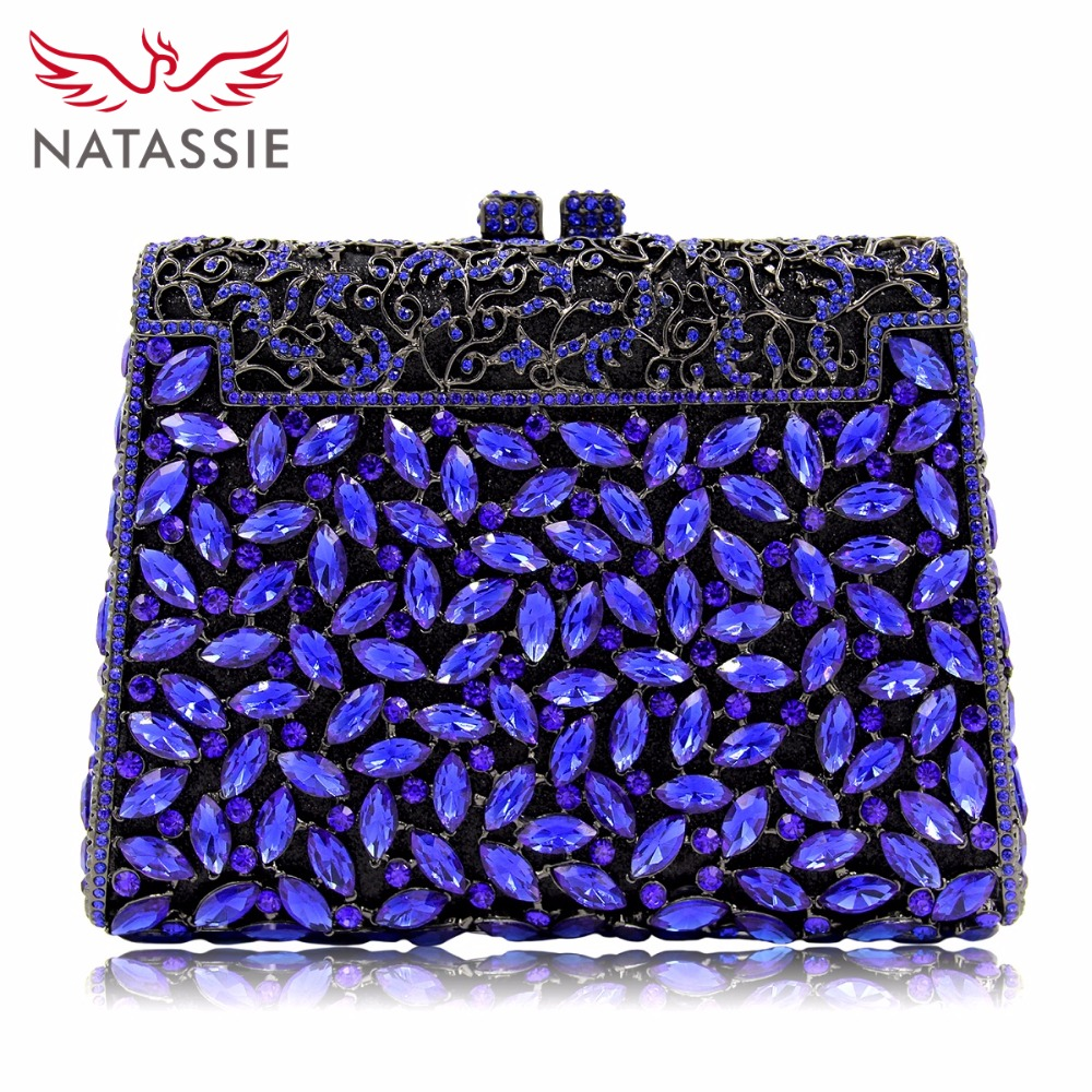 NATASSIE Women Luxury Evening Bag Ladies Party Clutches Bag Female Clutch Wedding Purses natassie women evening bags ladies crystal wedding clutch bag female party clutches purses