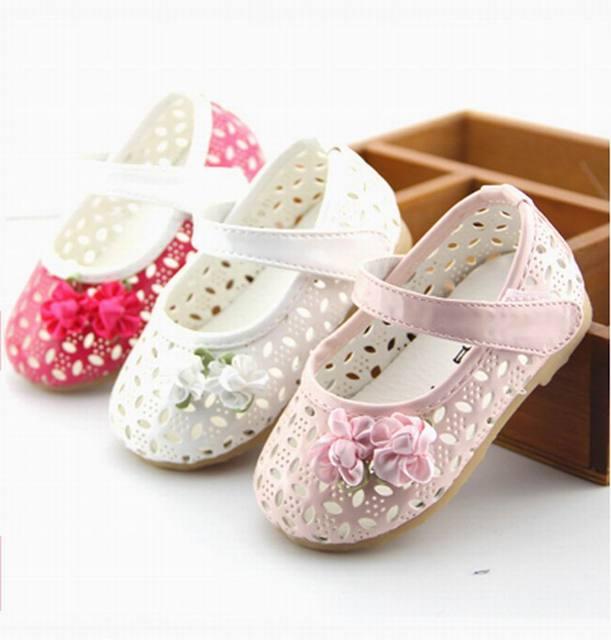 Горячие продажи Дышащий ребенка Малыша обувь принцесса обувь для девочек для 0-3 летних скольжению мягкой подошвой обувь весна лето осень