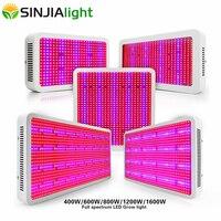 400 W 600 W 800 W 1200 W 1600 W светодиодный Grow Lights выращивания полного спектра Гидропонные светодиодный завод лампы для растений для аквариума Гроу тен...