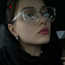 Retro Cat Eye Glasses Frame Brand Designer Fashion Women Half Eyeglasses Vintage Men Optical Oculos de grau