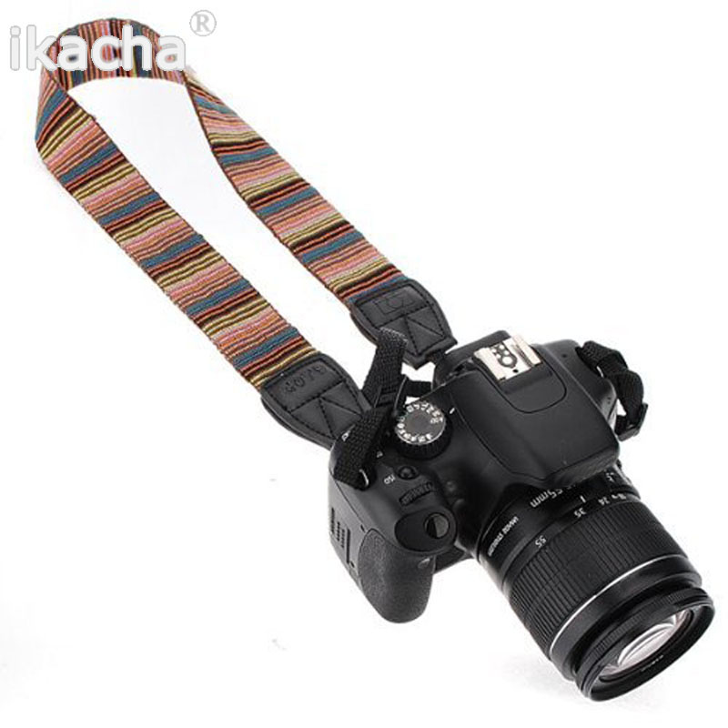 Vintage Camera Strap Shoulder Neck Strap Antislip Belt Durable Stripe for Canon Nikon Sony Pentax Camcorder Camera