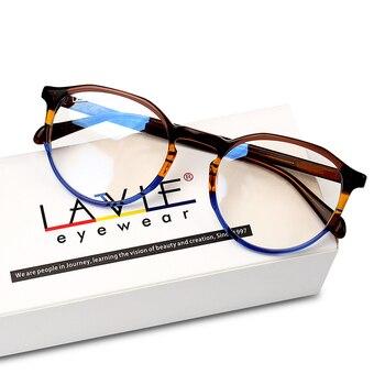 9cc9d98413 2018 nuevo diseño hecho a mano gafas de acetato de colores de moda monturas  para gafas para chicas jóvenes redondo de lujo prescripción de gafas