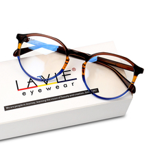 Gafas de acetato hechas a mano para mujeres y niñas, lentes de moda de colores, monturas para gafas redondas de lujo con prescripción, 2018
