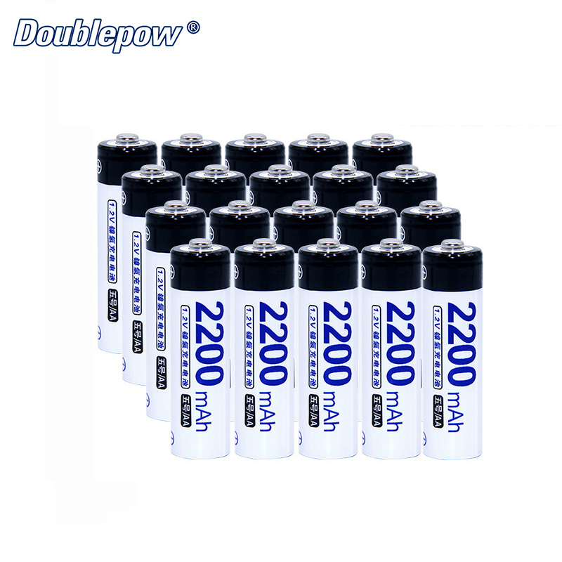 20pcs/Lot Doublepow DP-AA2200mAh 1.2V AA Ni-MH rechargable battery in Actual High Capacity of 2200mAh Battery Cell FREE SHIPPING