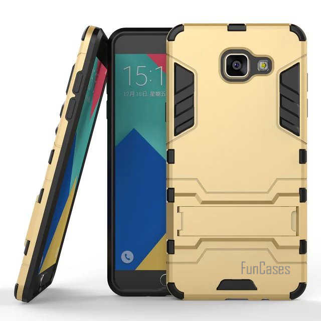 For Samsung Galaxy A5(2016) A510 Case 5.2inch Dual Layer Hybrid Rugged Armor Hard PC+TPU 2 In 1 Shockproof With Kickstand Cover