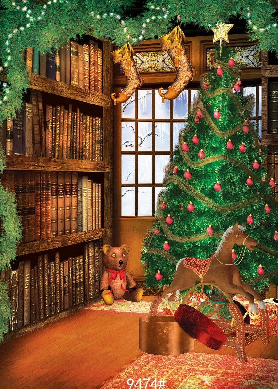 Christmas Tree Backdrop Art Fabric Photography Backdrops Photo Studio Photographic Background For Children Indoor 5x7ft photography backdrops christmas indoor christmas atmosphere 5x7ft 1 5x2 2m studio photo backdrop zj