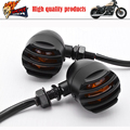 Matt Black Grill Bullet Amber Turn Signal Light #O For Harley Electra Glide Dyna